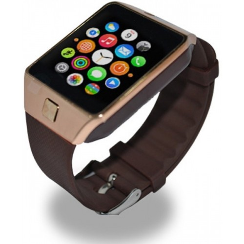 Mizco DZ09 With SIM and 32 GB Memory Card and Fitness Tracker Gold Smartwatch