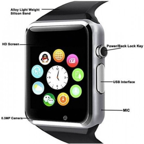46ecc1e96a0 Buy cyxus Vivo   Oppo 3G Smart Calling Mobile Smartwatch Watch ...