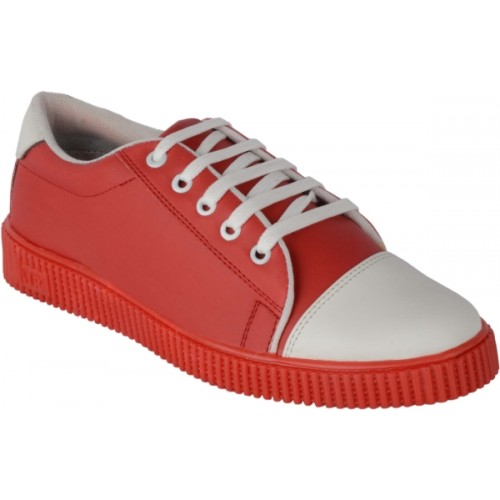 Ryko Mens Red Lace-up sneakers