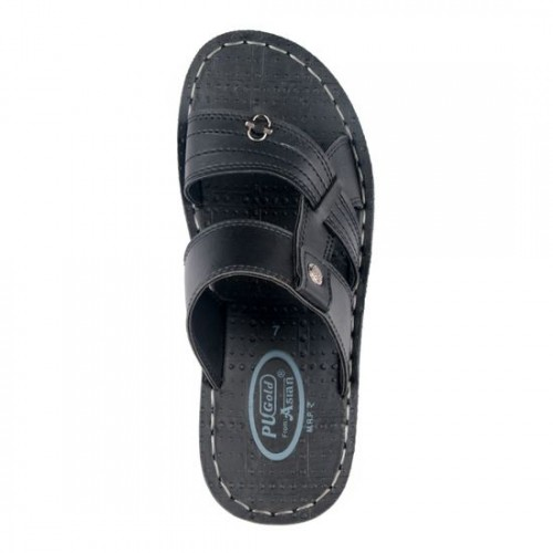 ab2faf0f9520 Buy Asian Black Synthetic Leather Slippers online