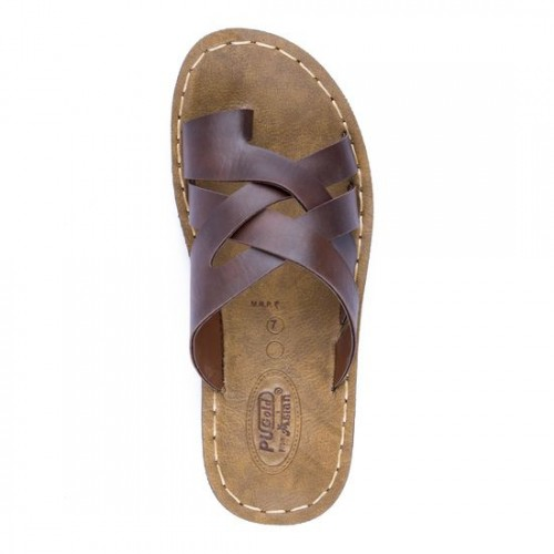 b62b1380a Buy Asian Brown Synthetic Leather Slippers online