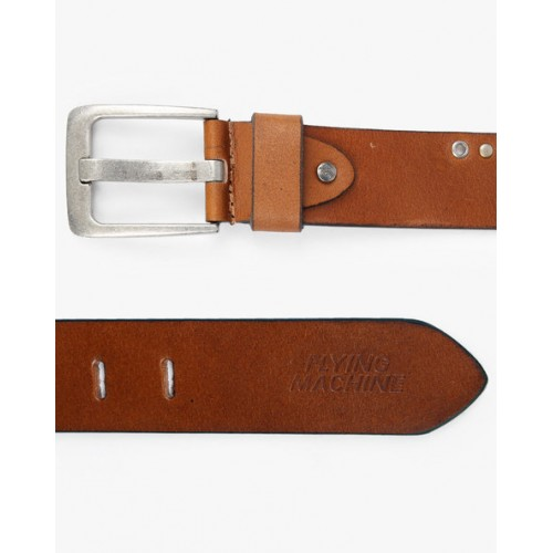 FLYING MACHINE Leather Belt with Eyelets