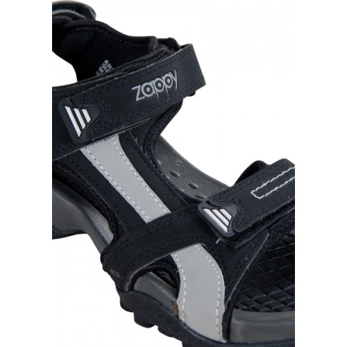 Zappy Men Black Sports Sandals