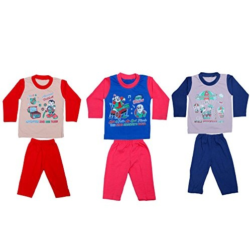 7e72a569a0 ... Indistar Kids Pure Cotton Baba Suit (T-Shirt and Bottom) (Pack of ...