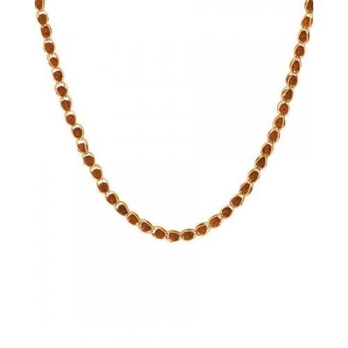 45c88427a81e7 Buy Dare by Voylla Voylla Rudraksha Studded Chain In Gold Toned ...