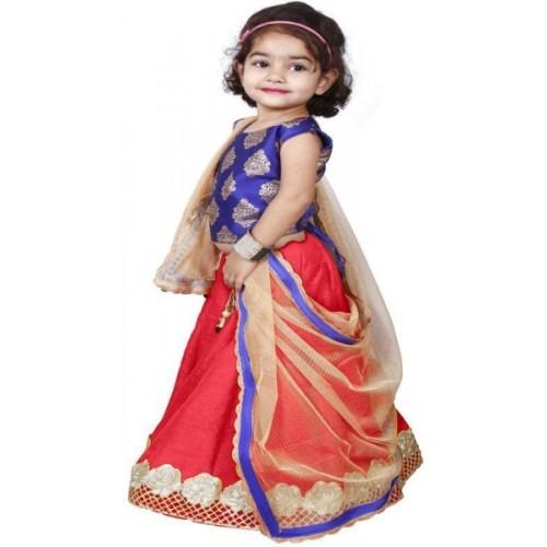 3d462e8c9b ... NAJARA FASHION Girls Lehenga Choli Ethnic Wear Embroidered Lehenga,  Choli and Dupatta Set ...