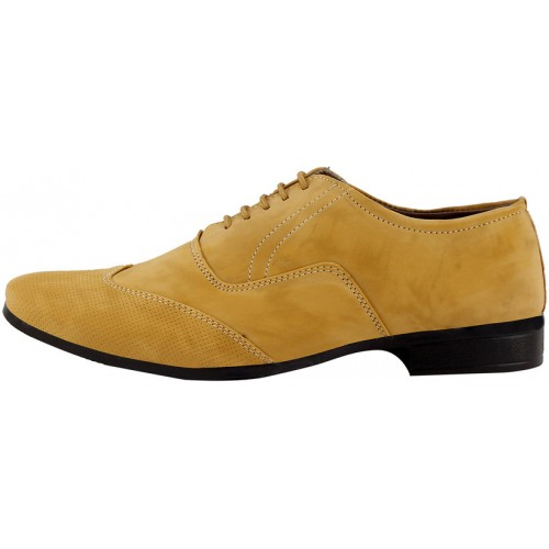 Smoky Men's Tan Lace-up Oxford Formal Shoes