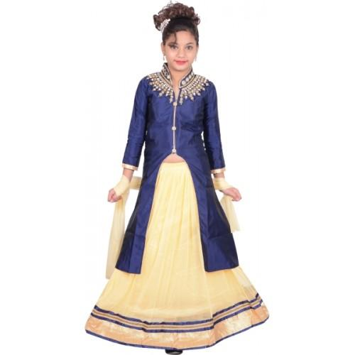 Sky Heights Girls Lehenga Choli Ethnic Wear Embroidered Lehenga Choli