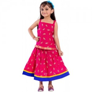 be53a8aae2b8 Buy Magnus Girls Lehenga Choli Ethnic Wear Embroidered Lehenga Choli ...