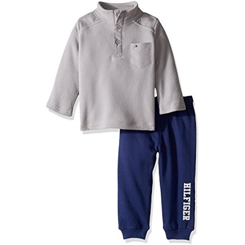 4ca4af0e0e33 Buy Tommy Hilfiger Baby Boys  2 Piece Striped Fleece Top and Pant ...