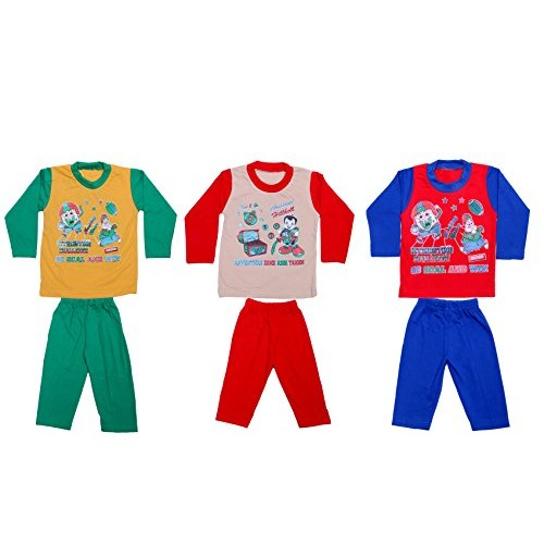a454a3339861 Indistar Kids Pure Cotton Baba Suit (T-Shirt and Bottom) (Pack of 3)