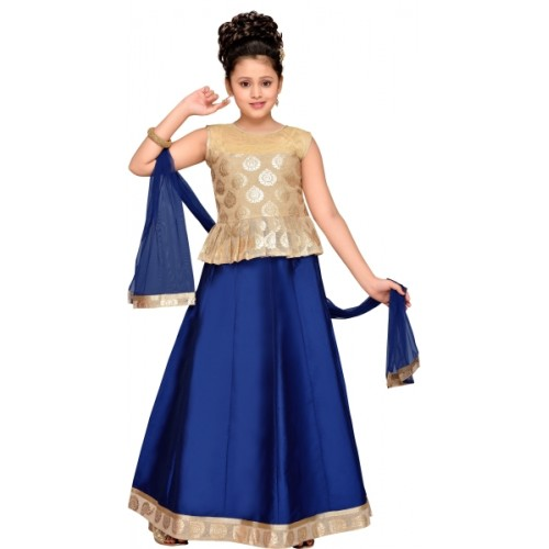23dce29769 ... Adiva Girls Lehenga Choli Ethnic Wear Self Design Lehenga, Choli and  Dupatta Set ...