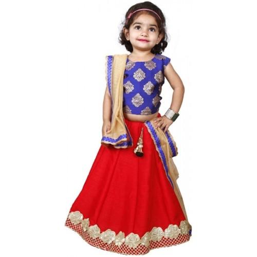 a75d1c2ff ... WhiteButton Girl s Lehenga Choli Ethnic Wear Self Design Lehenga