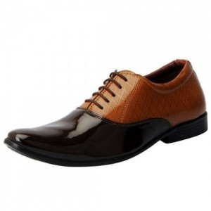 Fausto Men'S Brown Formal Lace-Up Shoes