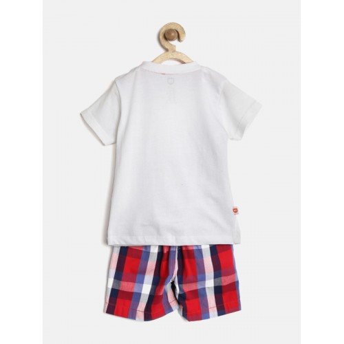 Buy Baby League by 612 League Boys White & Red Printed