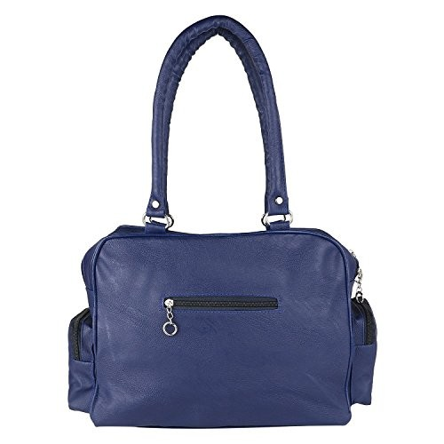 Bizarre Vogue Navy Blue Polyurethane Stylish Handbag