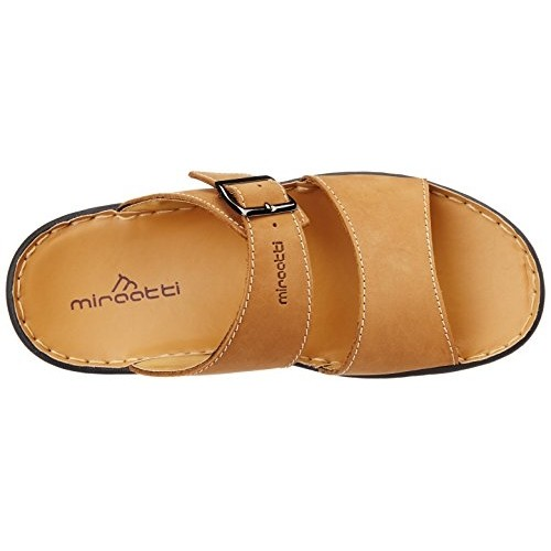 6e28a793ddd Buy Miraatti Men s Brown leather Sandals and Floaters - 6 UK (6031 ...