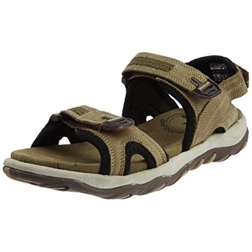 Woodland Men's  Khaki Leather Sandals and Floaters - 7 UK