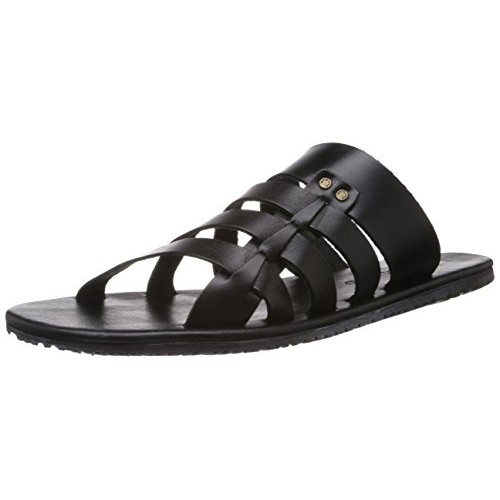 buy woodland men s black leather flip flops and house slippers 6