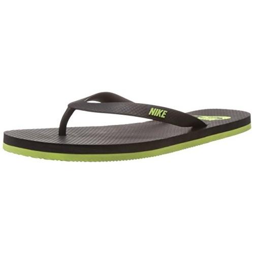 569e7605c66 Buy Nike Men s Aquaswift Thong Black and Volt Rubber Flip-Flops ...