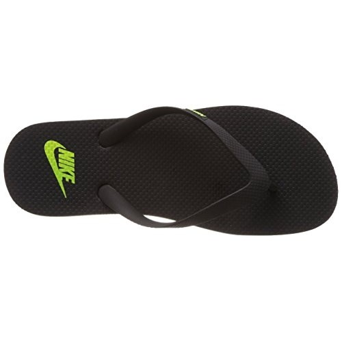 91bacf086c006 Buy Nike Men s Aquaswift Thong Black and Volt Rubber Flip-Flops ...