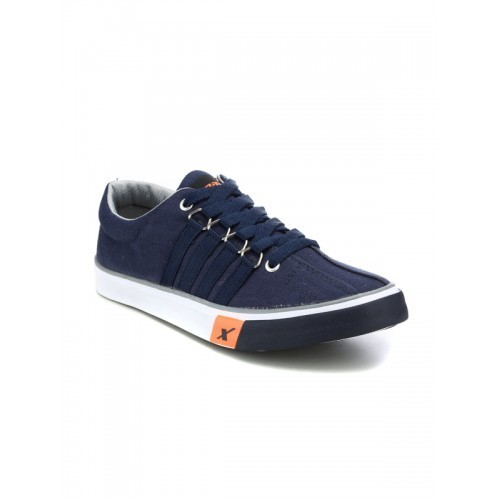 Sparx Blue Canvas Low Ankle Sneakers