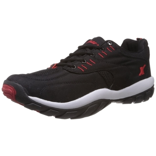 Sparx (SM-113) Black Synthetic Lace Up Running Shoes