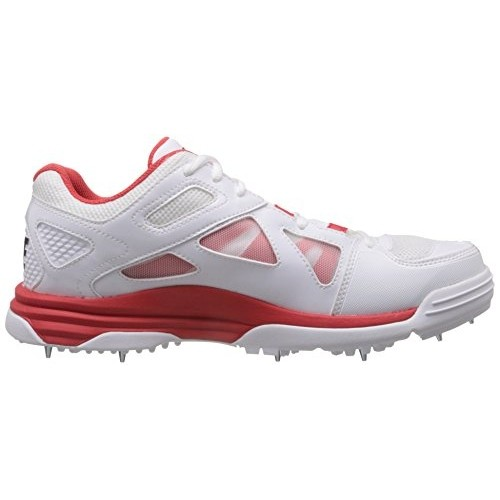 6f7246eb37bc Buy Nike Men s Lunar Dominate White and Red Mesh Cricket Shoes - 11 ...