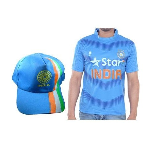 14922960892 Buy Bloomun India Cricket Supporter Jersey Size 40 With India Cap ...