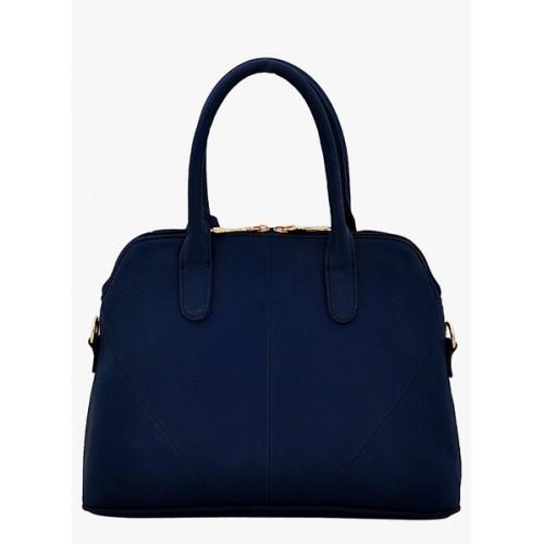 Lafille Blue Polyurethane Handbag