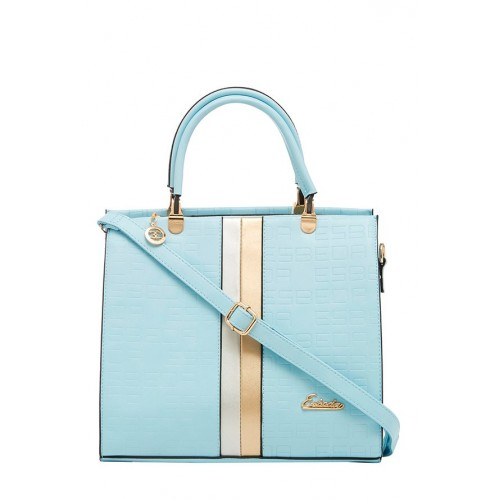 Esbeda Blue Panelled Handbag