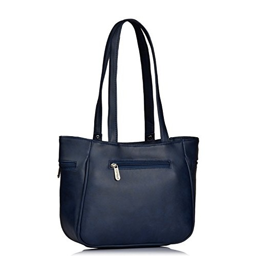 Fostelo Women's Combo Handbag & Clutch (Blue & Blue) (FSB-1087-FC-34)