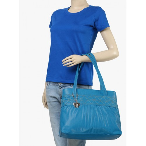 Butterflies Blue Pu Handbag