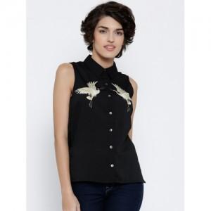 Vero Moda Women Black Printed Casual Shirt
