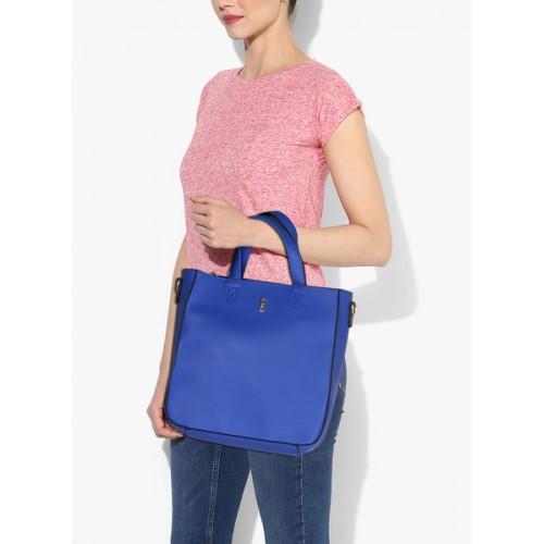 Global Desi Robin Royal Blue Large Tote Bag