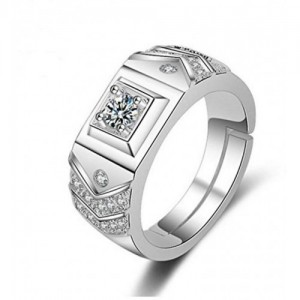 Limited Edition Sterling Silver Cubic Zirconia Adjustable Rings