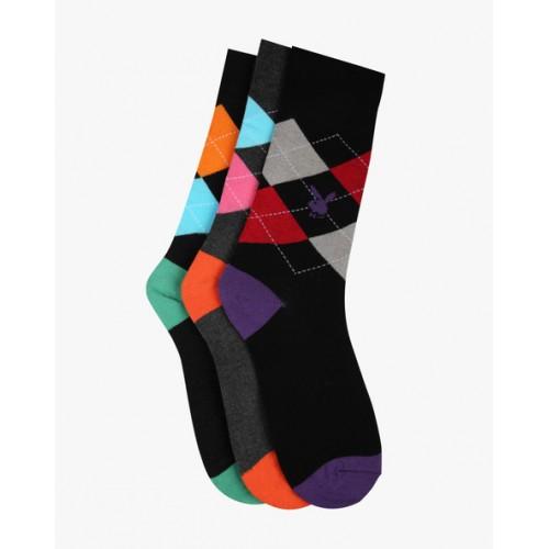 e8ca5400d26 Buy Playboy Pack of 3 Checked Socks online