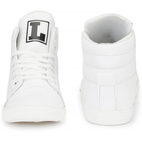 Creer White Synthetic Lace Up Sneakers