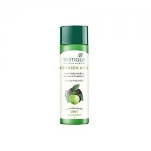 Biotique Bio Green Apple Fresh Daily Purifying Shampoo and Conditioner for Oily Hair and Scalp, 190ml
