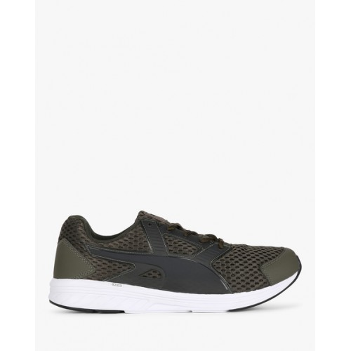 Puma NRGY Driver IDP Running Shoes For Men(Olive)