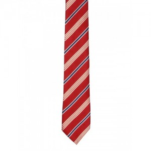 Tossido Red Striped Skinny Tie