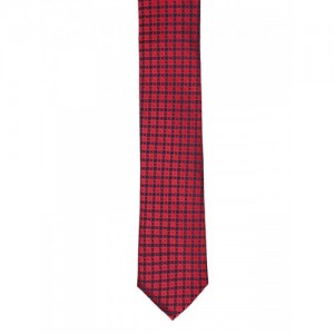 Van Heusen Red Woven Design Broad Tie