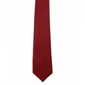 Blacksmith Men Red Woven Design Tie