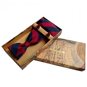 Blacksmith Maroon Formal Tie, Bowtie, Cufflink, Pocket Square Set for Men