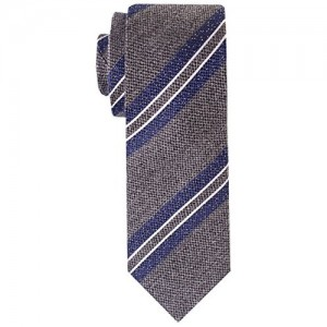 The Tie Hub Azalea Grey Stripe Neck Tie