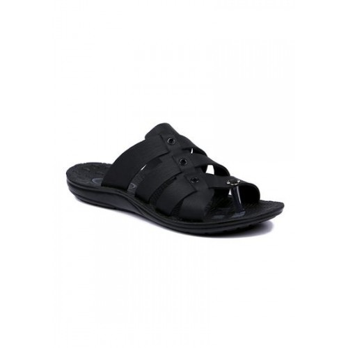 11d13a02e7af Buy Asian Black 2900 Synthetic Leather Slippers online