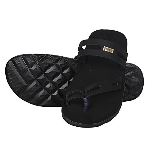 UrbanwhiZ Emosis Range Stylish Brown Black Color Corporate Office Casual Slippers Sandals for Men