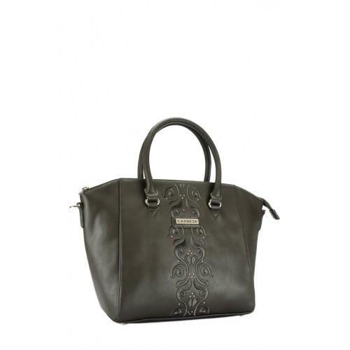 Caprese Caprese Virginia Dark Grey Embroidered Handbag