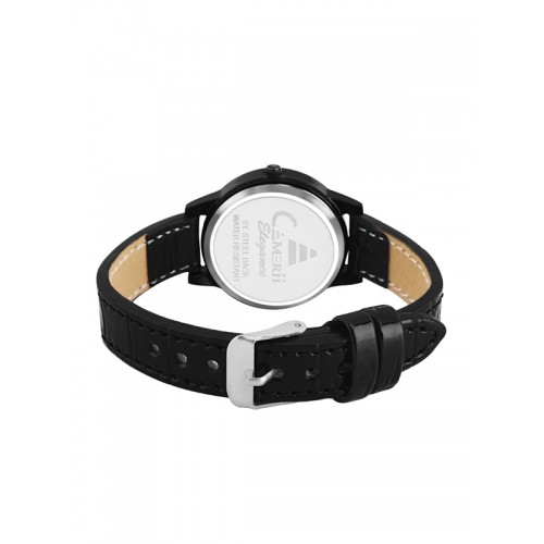 Camerii Women Black Analogue Watch