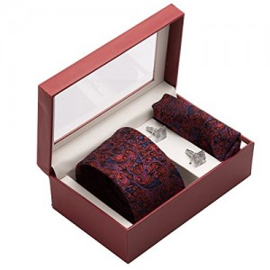 Vibhavari Men's Tie, Pocket Square & Cuff links Set